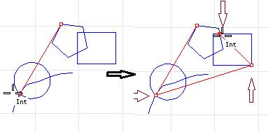 Bắt điểm tại các giao điểm của đường cong và các giao tuyến của cạnh, đường cong với bề mặt,...