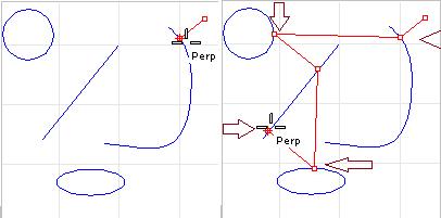 Bắt vuông góc từ đường cong đến đường tròn,...