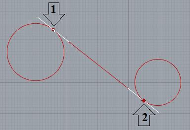 Đường thẳng tangent với 2 đường tròn