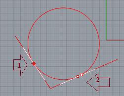 Vẽ đường tròn khi biết nó tiếp tuyến với 2 đối tượng đã có sẵn và bán kính đường tròn cho trước
