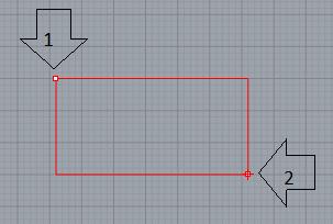 Thao tác vẽ hình chữ nhật khi biết 2 đỉnh đối diện