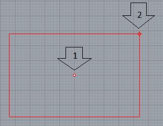 Thao tác vẽ hình chữ nhật khi biết tâm và 1 đỉnh của nó
