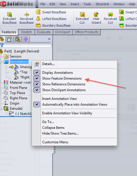 solidworks-show-features