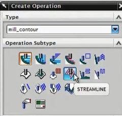 Tạo chu trình gia công Streamline