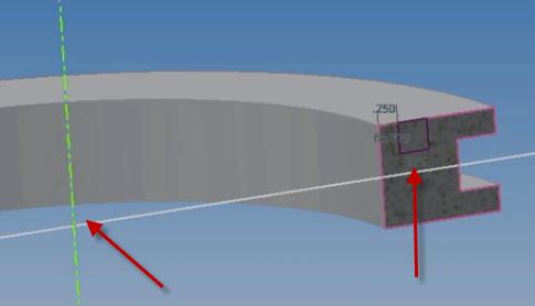 biên dạng revolve cut
