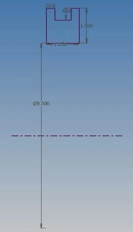 biên dạng sketch revolve