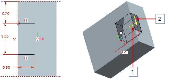 Phác thảo biên dạng hình chữ nhật