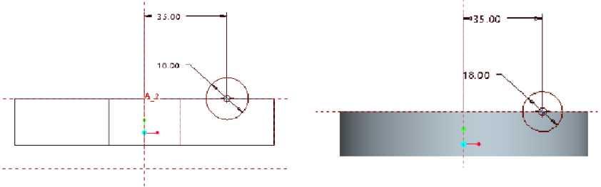Vẽ Sketch profile và thêm đường trục xoay