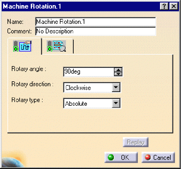 Hộp thoạiMachine Rotation