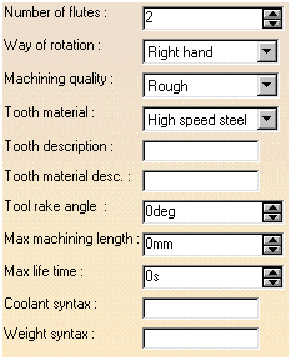 Thông số công nghệ của dụng cụ cắt