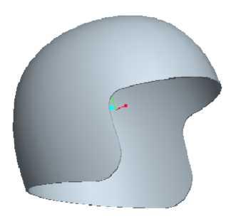 Mũ bảo hiểm vẽ bằng Proe 5