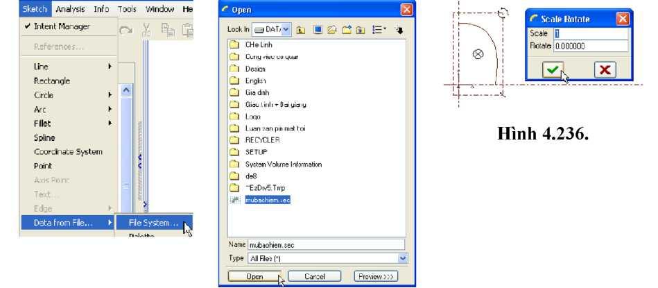 Menu Sketch và mở file