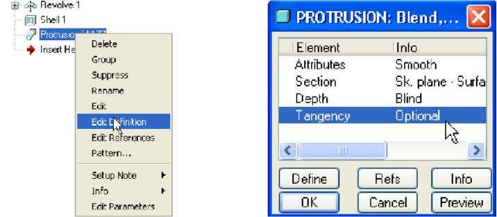 Hộp thoại Protrusion