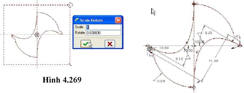 Đặt tỉ lệ Scale để phóng to hình ảnh