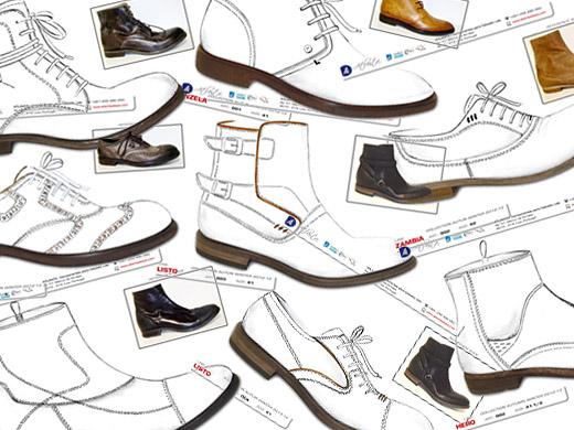Minh họa thiết kế giày dép
