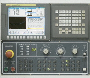 Một bảng điều khiển fanuc thông thường