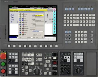 Bảng điều khiển của máy CNC
