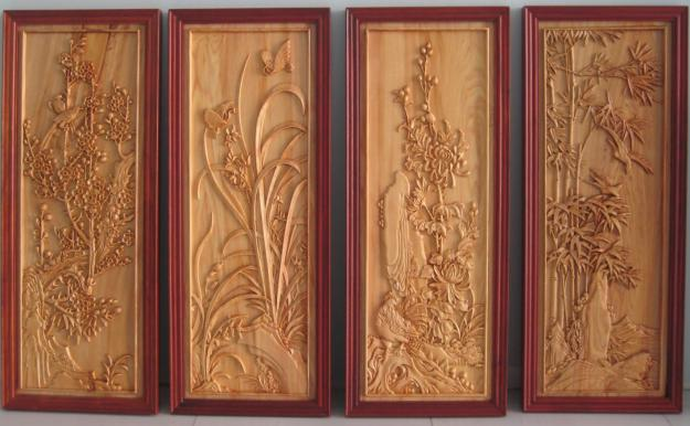 Tranh điêu khắc gỗ