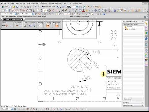 Tạo khung bản vẽ tiêu chuẩn trên phần mềm NX