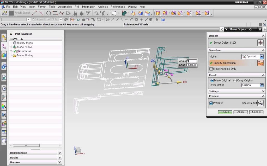 Nhập bản vẽ CAD 2d vào môi trường thiết kế NX