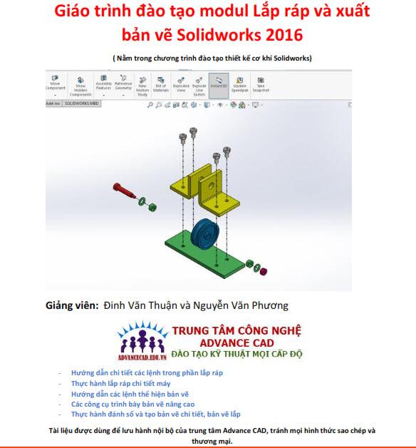 giáo trình lắp ráp và xuất bản vẽ solidworks 2016