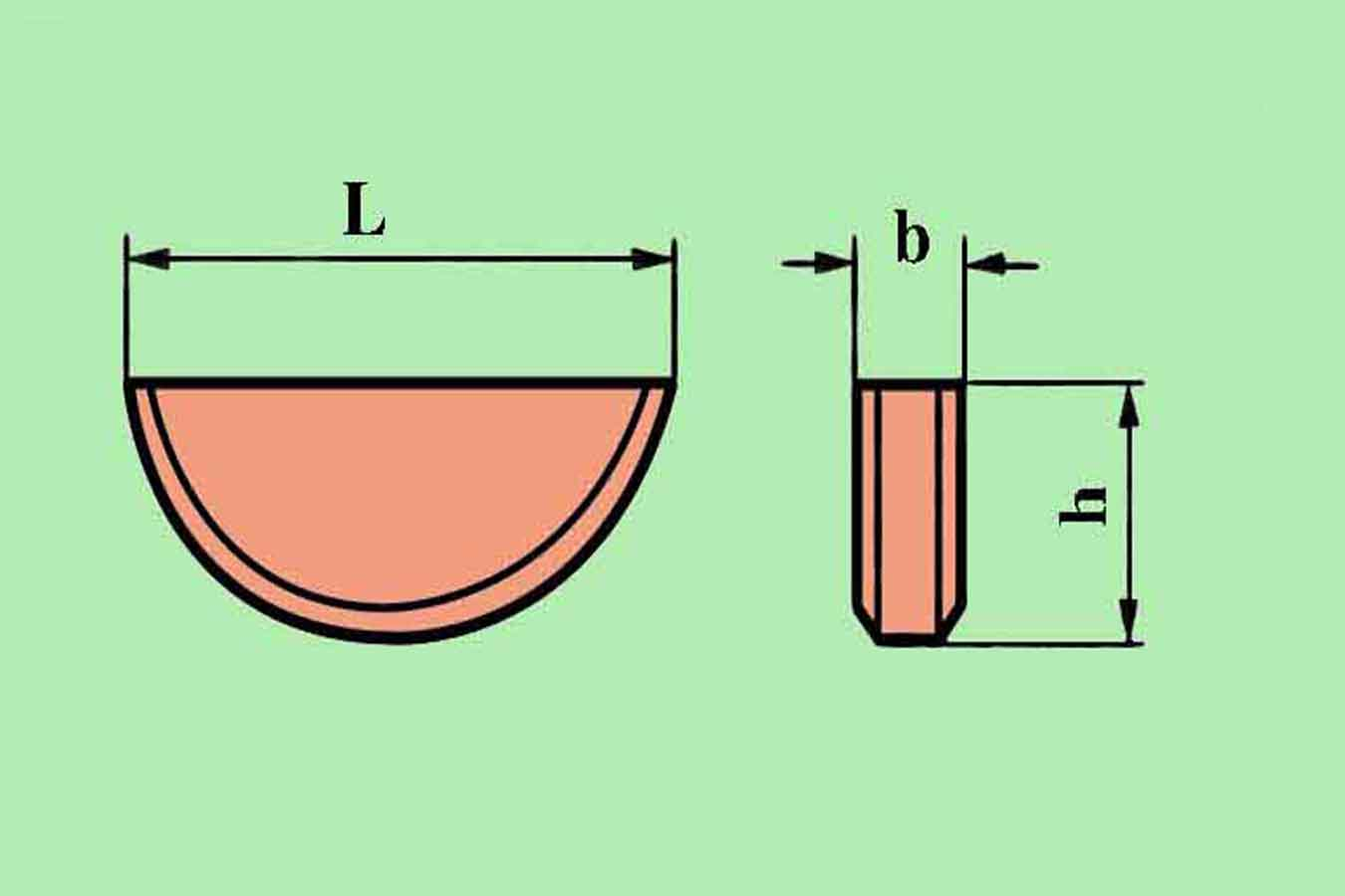 Vẽ cơ khí_Bài 31 :Ứng dụng và ghi kích thước Then bán nguyệt (Woodruff key) trên bản vẽ cơ khí.