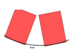 vùng gia công lõm với kiểu 0 Lead Angle