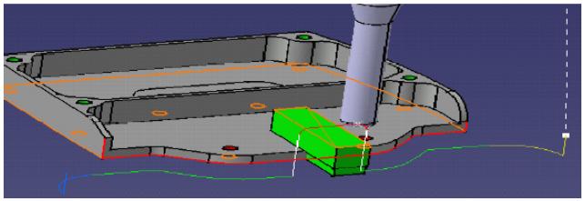 Dụng cụ cắt và đầu trục chính sẽ ở vị trí Home. Dụng cụ này chỉ có hiệu lực khi có sự nhập máy để mô phỏng VNC