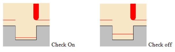 Offset on Area trên Part và trên Bottom