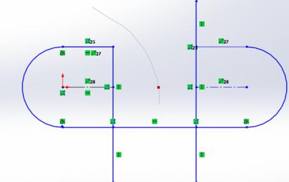 Các công cụ vẽ biên dạng sketch 2D Solidworks