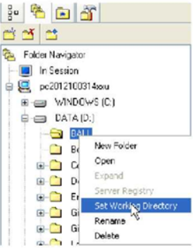 Set Working Directory trong Navigation Windows