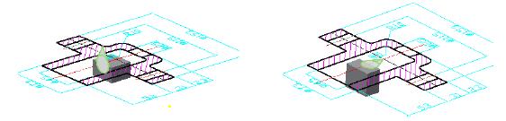 Biên dạng hình học sketch 2D được tạo ra bằng các công cụ thiết kế sketch của Inventor