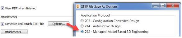 Xuất MBD đính kèm thêm file STEP