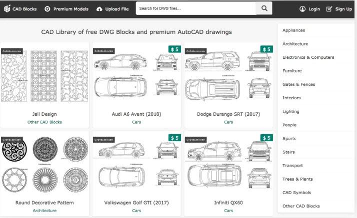 14 trang web để tải thư viện Cad/Block 2D tốt nhất hoàn toàn miễn phí