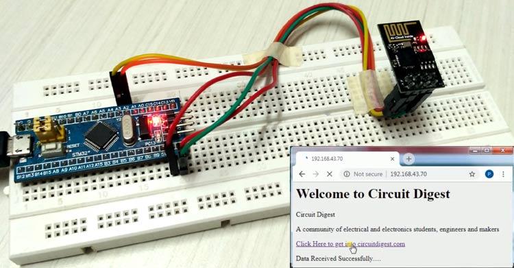 Kết nối ESP8266 với STM32F103C8: Tạo máy chủ web