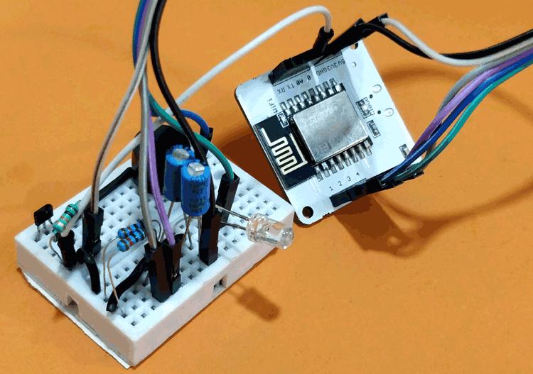 Báo động bảo mật cửa dựa trên IoT được điều khiển bởi Google Assistant