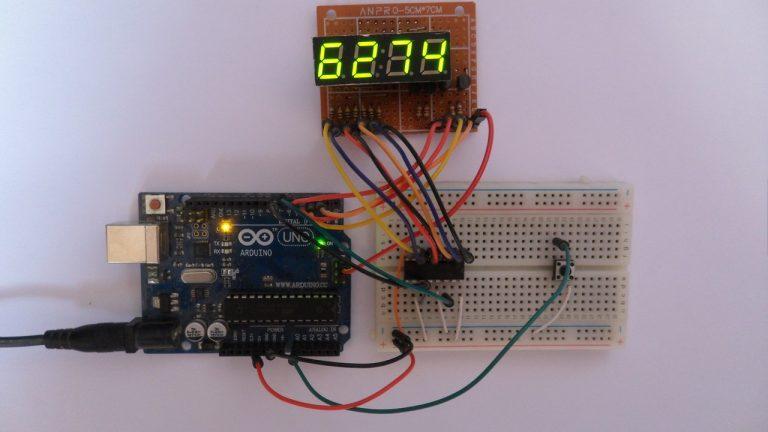 Tạo màn hình với led 7 đoạn và thanh ghi dịch 74HC595 | Dự án Arduino