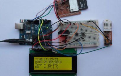 Bộ ghi dữ liệu Arduino với thẻ SD, cảm biến DS3231 và DHT22