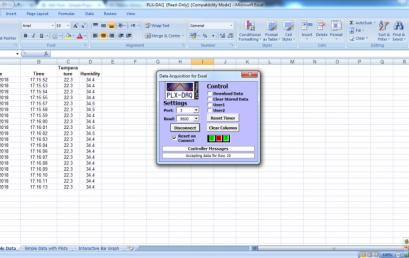 Bộ ghi dữ liệu Excel sử dụng Arduino và cảm biến DHT22