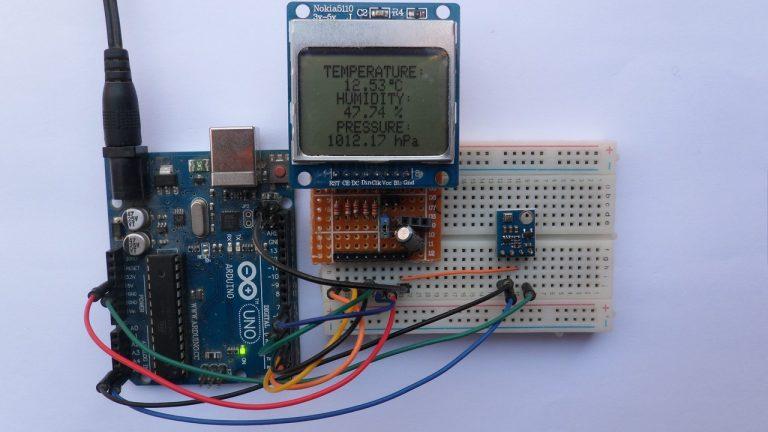Hiện thị thời tiết dựa trên Arduino bằng cảm biến BME280 và LCD Nokia 5110