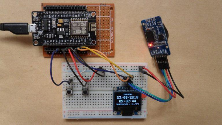 Đồng hồ thời gian thực sử dụng OLED NodeMCU, DS3231 và SSD1306