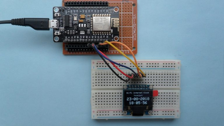 Đồng hồ internet với NodeMCU và màn hình SSD1306 | Dự án IoT