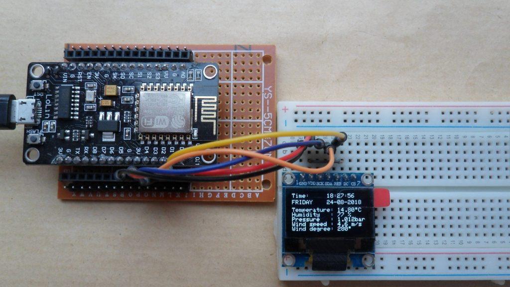 Đồng hồ thời gian thực và dự báo thời tiết với NodeMCU qua Internet| Dự án IoT